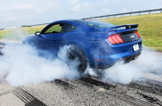 2018 Mustang burnout feature demonstrated