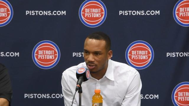 Avery Bradley says hello to Detroit
