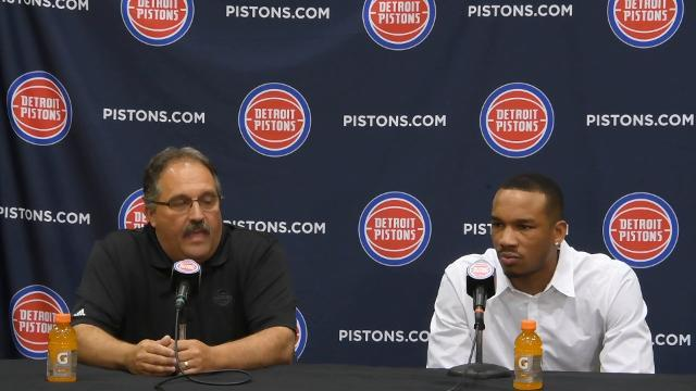 Pistons coach Stan Van Gundy on new guard Avery Bradley