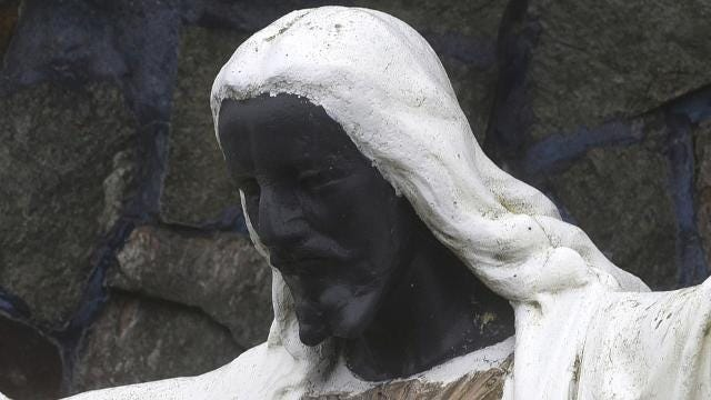 Black Jesus statue becomes symbol of multiracial harmony