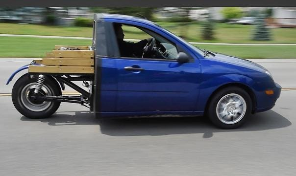 Check out this three-wheeled 'Franken-Ford'