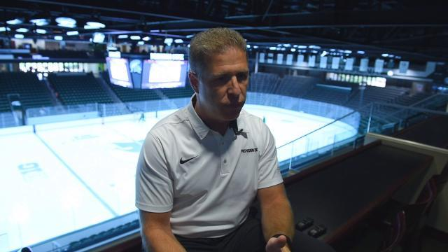 MSU's new hockey coach talks about his experience