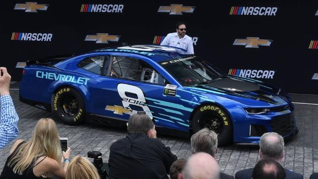 Jimmie Johnson drives the Chevrolet 2018 Camaro ZL1 NASCAR Cup race car