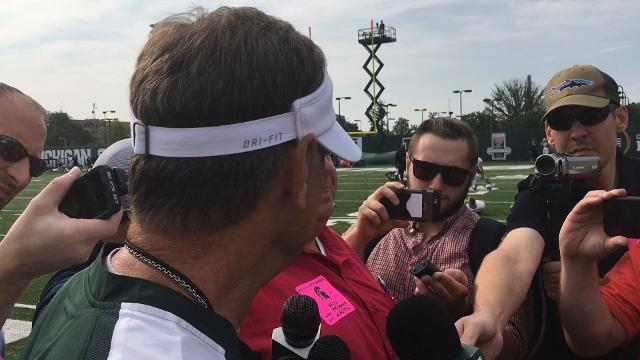 MSU's Dantonio talks about preparing for opener