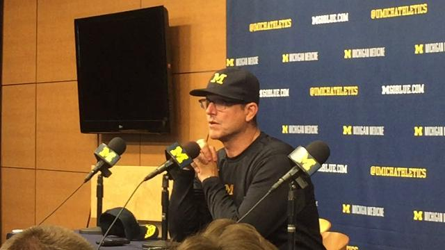 Jim Harbaugh on offense moving the ball