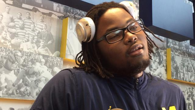 UM's Rashan Gary on teammate Mason Cole