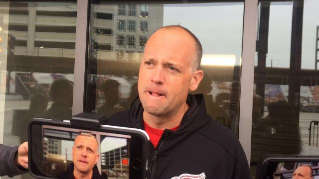 Blashill talks about the Wings' practice facility