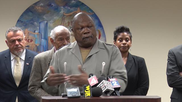 NAACP press conference on Michigan State Police Col. Kriste Kibbey Etue