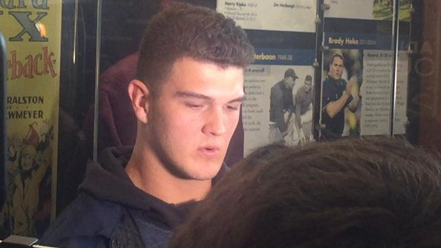 UM QB O'Korn talks about Penn State