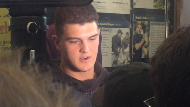 UM QB O'Korn talks about limiting mistakes