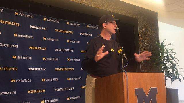 UM's Harbaugh talks about O'Korn