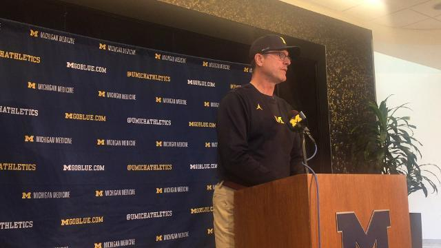 UM's Harbaugh talks about Penn State