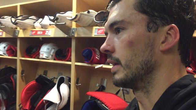 Wings' Ericsson discusses the Maple Leafs' goal scorers