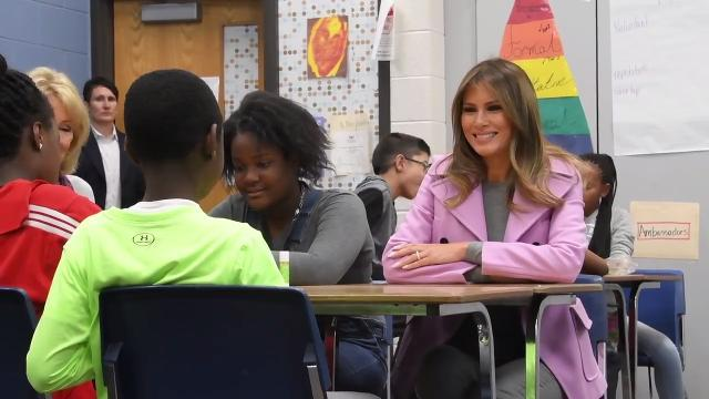 Melania Trump visits Orchard Lake Middle School