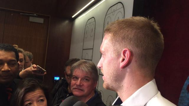 Wings' Mantha talks about fight vs. Flames