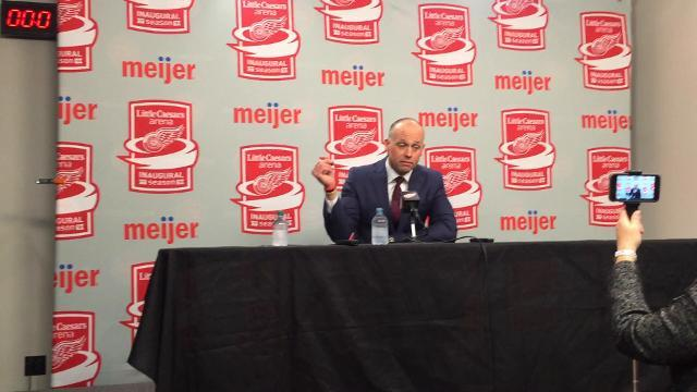 Wings' Blashill talks about Mantha's development