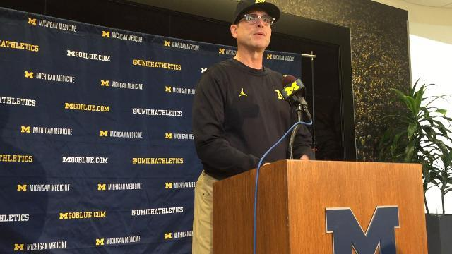 Jim Harbaugh on importance of Ohio State game