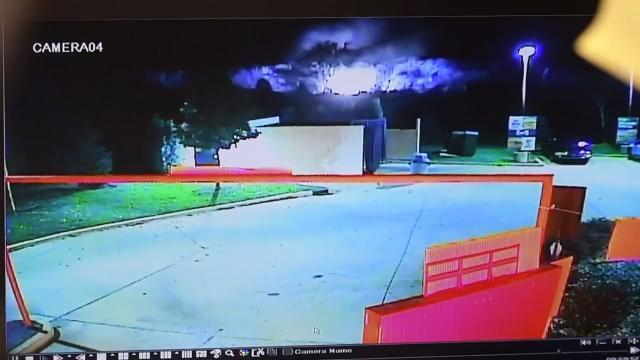 Security camera captures gas line explosion in Orion Township