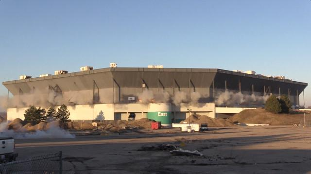 Silverdome still stands, implosion went awry