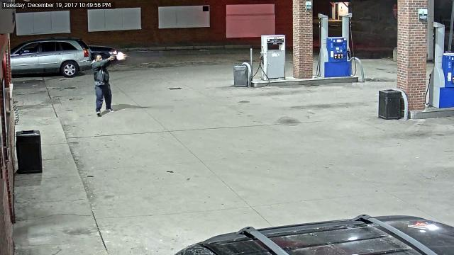 Surveillance video: Fenkell gas station robbery