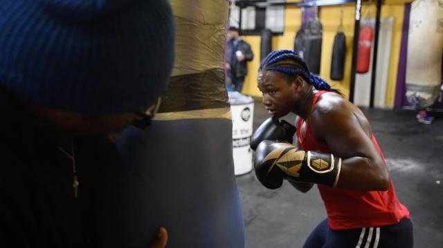 Claressa Shields works out at Berston Field House