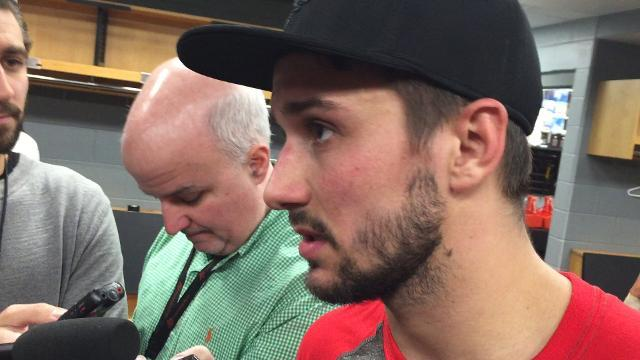 Goalie Mrazek talks about the Wings' fast start