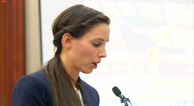 Rachael Denhollander, victim of Dr. Larry Nassar, delivers a scathing indictment of Michigan State University for failing to take appropriate action when student athletes reported abuse by Nassar.