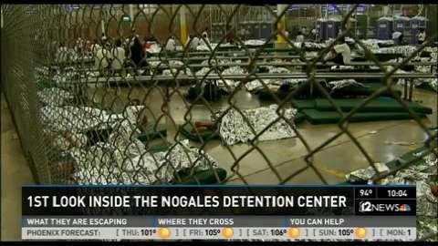Media gets 1st look inside the Nogales detention center