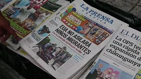 Central American media: U.S. will not give assylum to minors who come across illegally.