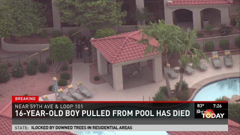Teen drowns in Glendale