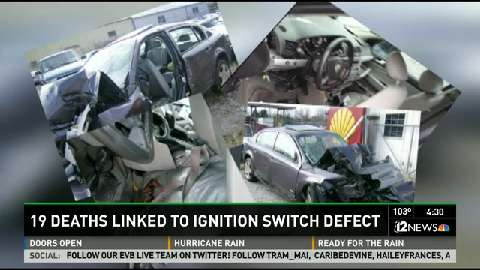 19 deaths linked to ignition switch defect