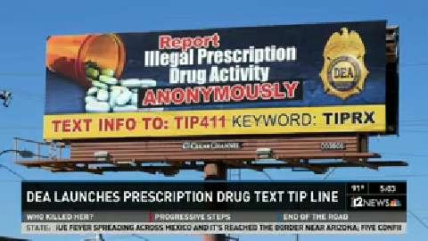 DEA launches prescription drug text tip line