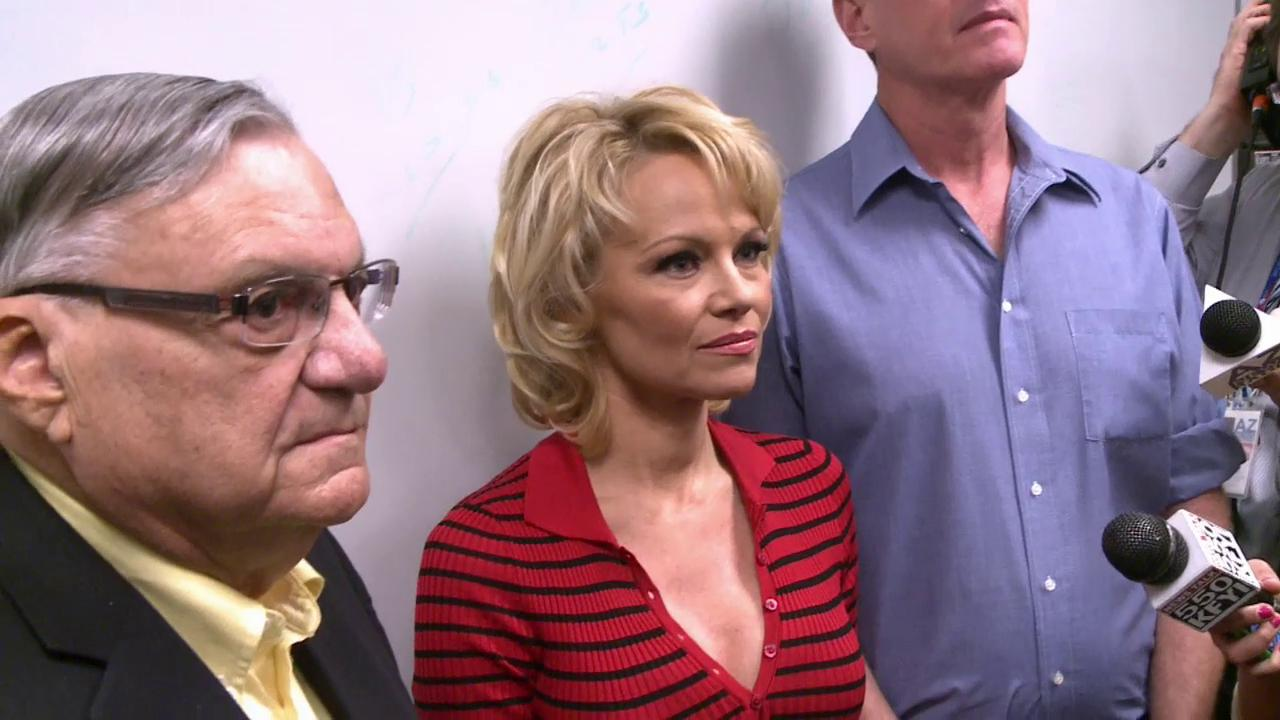 Pamela Anderson and Sheriff Joe Arpaio at Tent City
