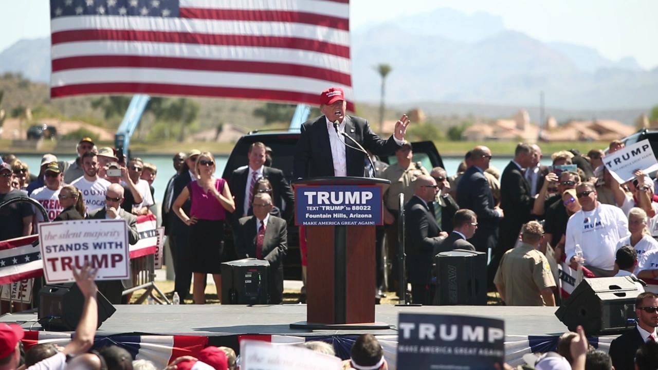 Donald Trump speaks at rally in Fountain Hills Arizona