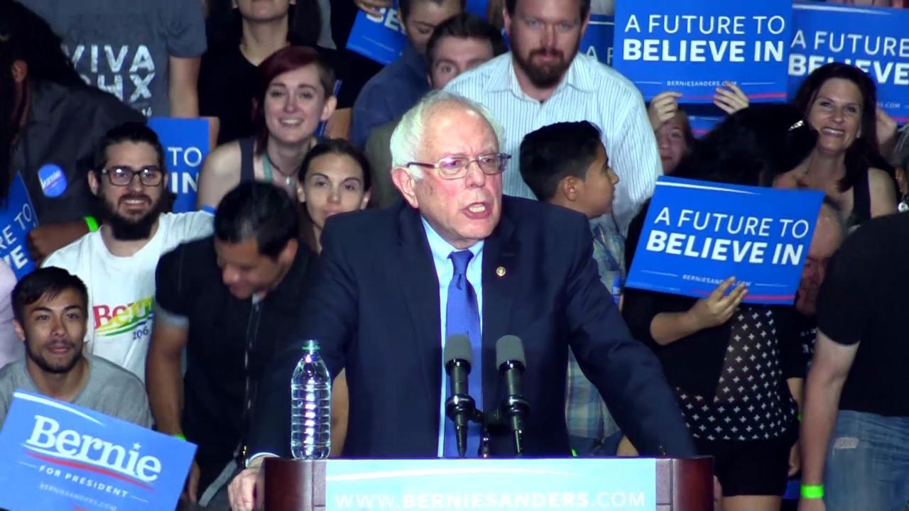 Highlights of Bernie Sanders speech in Phoenix
