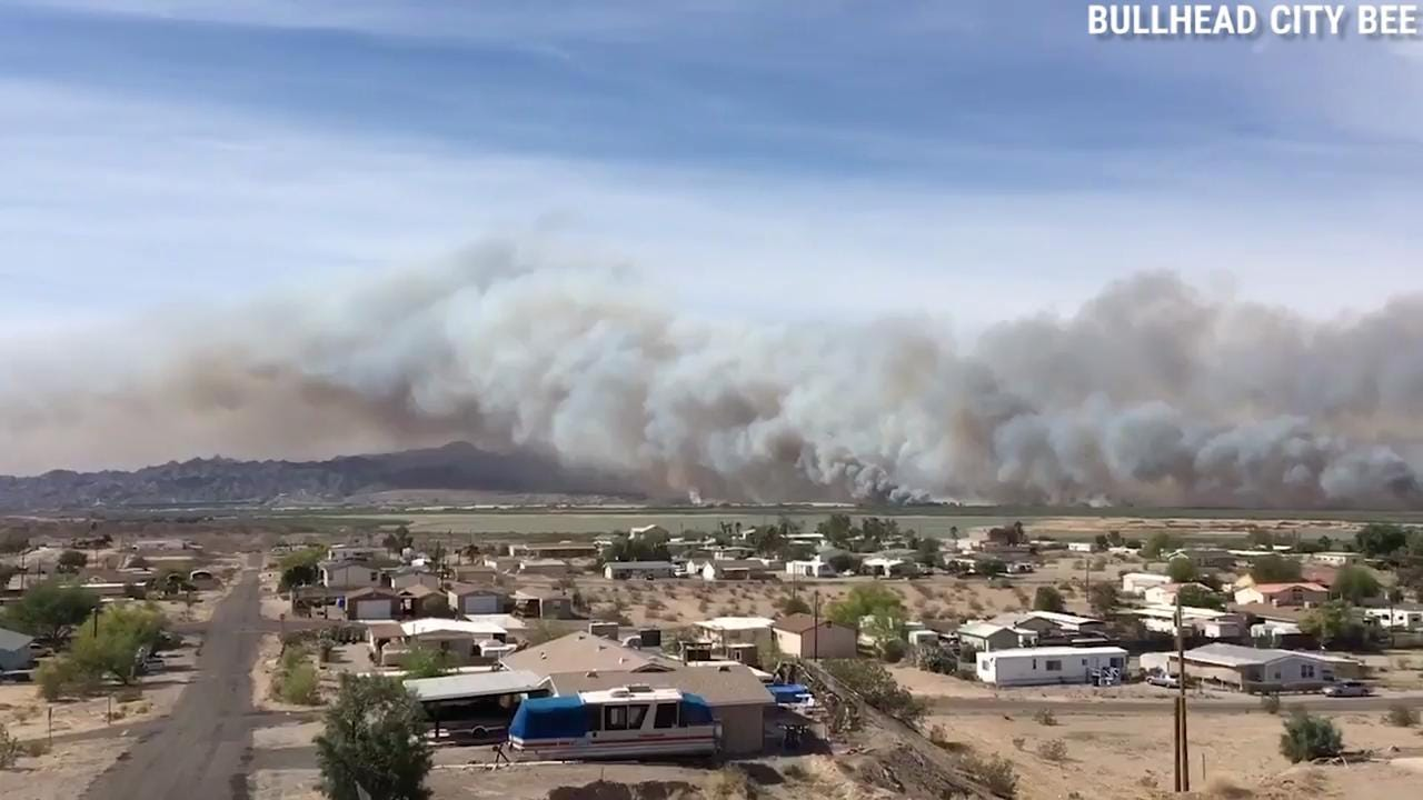 Video of Pirate Fire from Bullhead City Bee