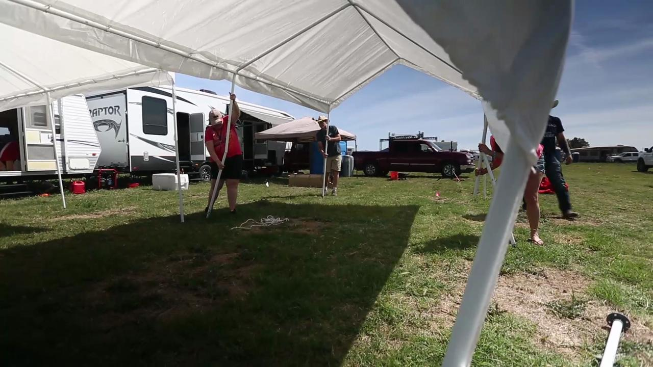 Campers arrive for Country Thunder music festival in Florence Arizona
