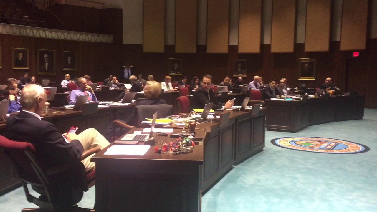 Agitated Rep Wheeler on House floor