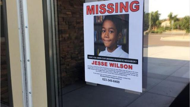 Jesse Wilson, 10, was reported missing by his mother Sunday evening