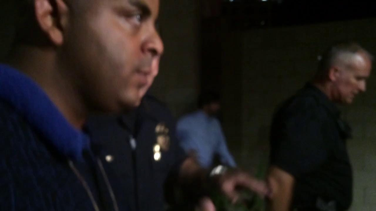 Police chief and Jarrett Maupin argue over protesters' path