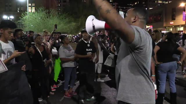 Protest organizers attempt to block freeway