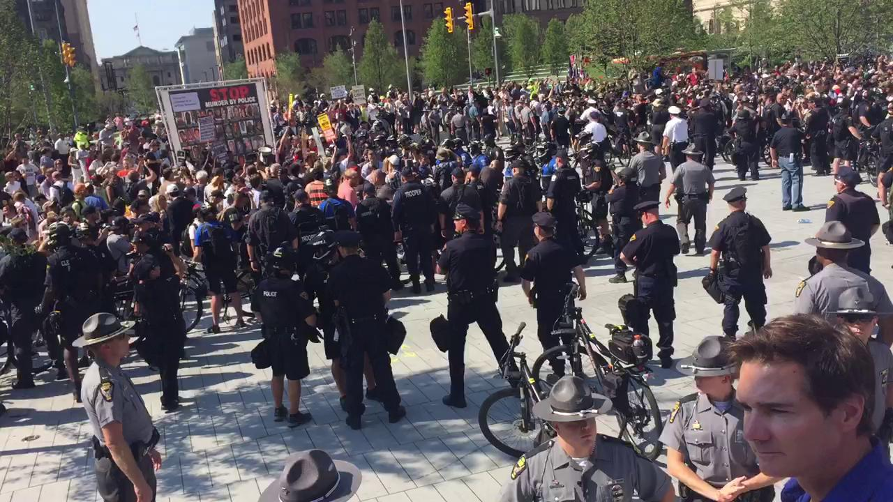 Protest in Cleveland outside the Republican National Convention