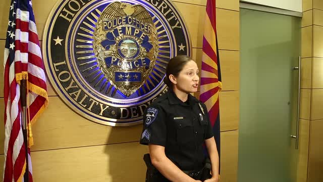 Tempe police discuss homicide