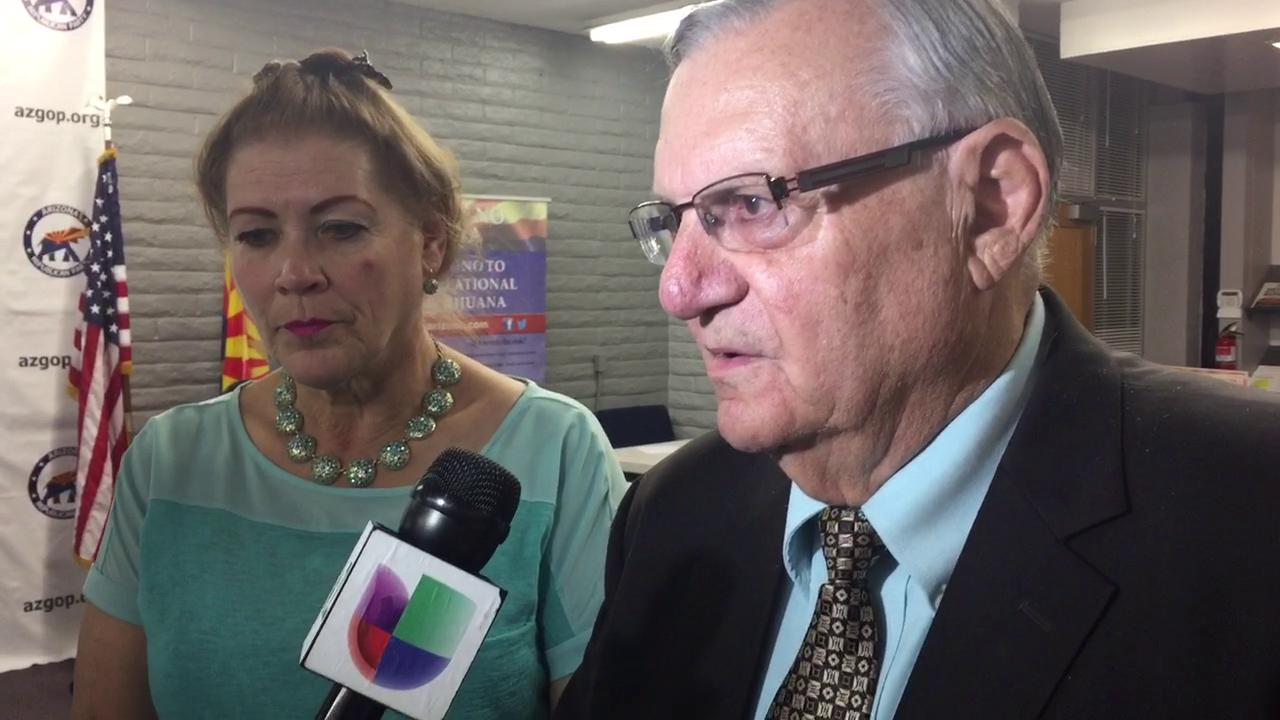 Joe Arpaio talks about his primary election win.