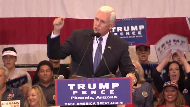 Arpaio, Brewer, and Pence stump for Trump-Pence campaign