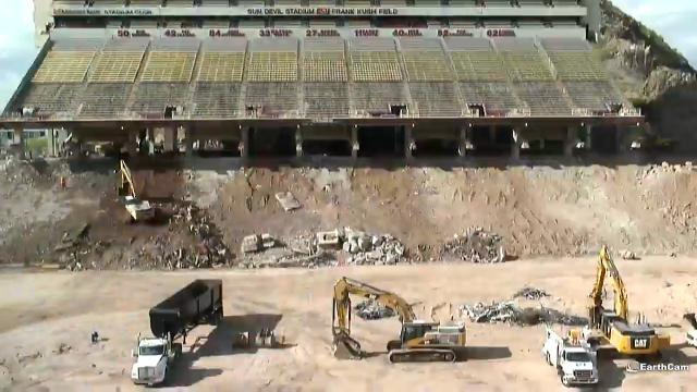 Timelapse of Sun Devil Stadium offseason renovations