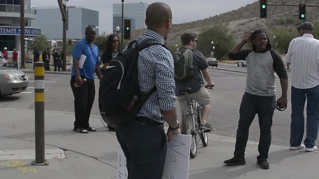 'Moral Monday' protest in Tempe