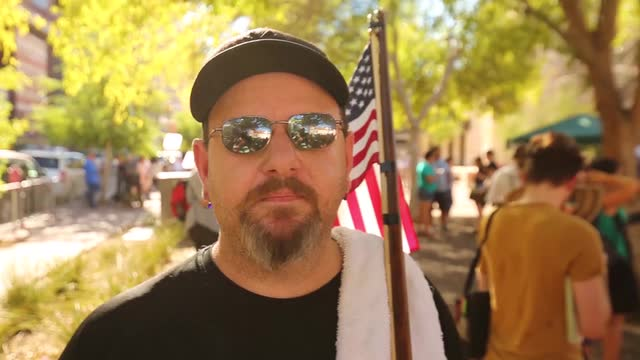 Trump supporter says he is keeping the peace