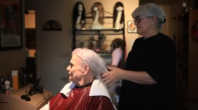 Go with former Gov. Rose Mofford for her hairstyling