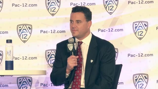 Head coach Sean Miller didn't back down from the lofty expectations the Arizona basketball program expects each season at Pac-12 Media Day on Friday in Los Angeles.  Rochelle Romero/Cronkite News